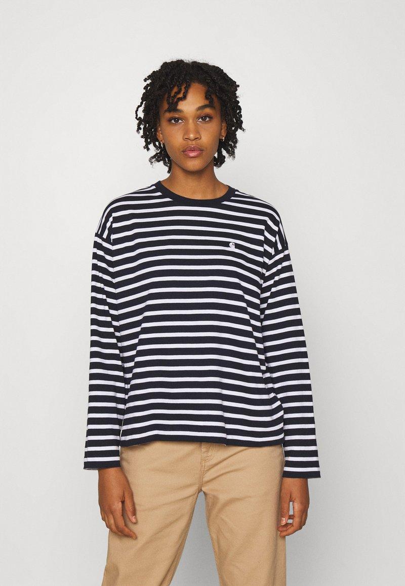 Carhartt WIP - ROBIE  - Long sleeved top - dark navy/white