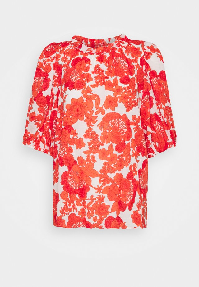 ELLIE - Blouse - coral print