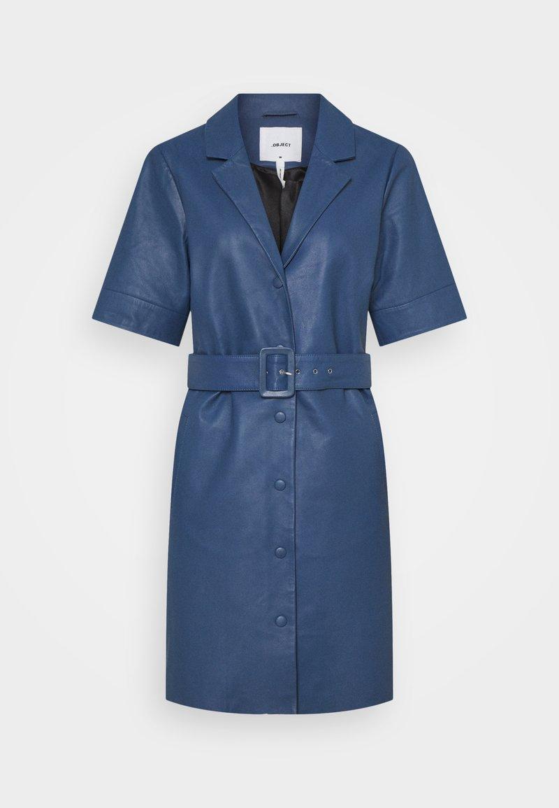Object - OBJZARIA DRESS  - Shirt dress - ensign blue