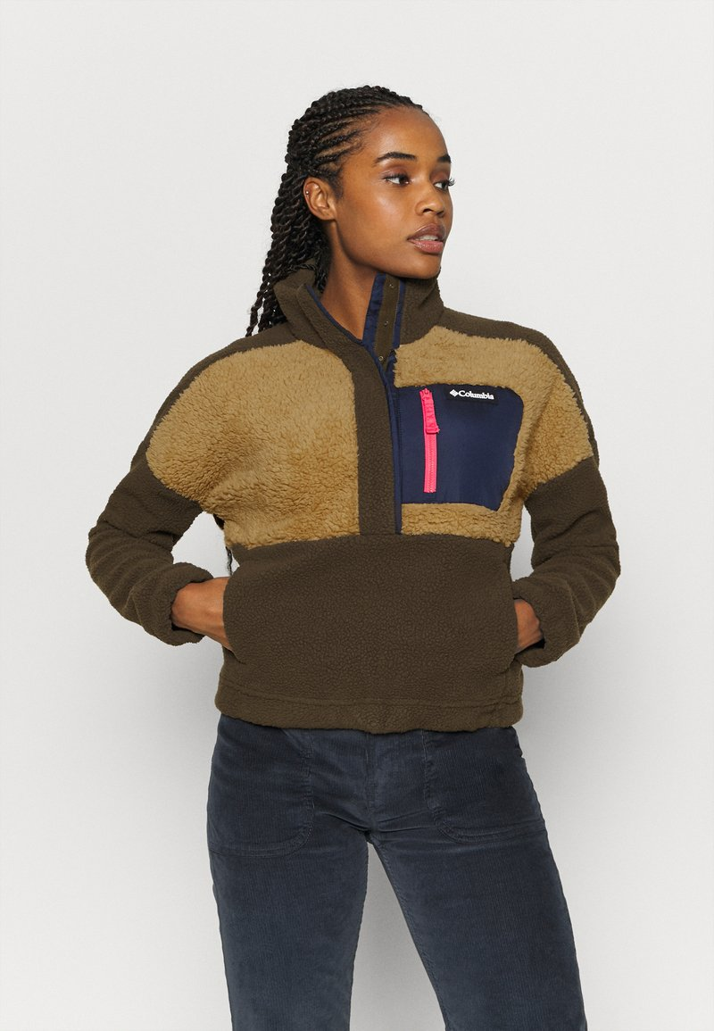 Columbia - LODGE SHERPA - Fleece jumper - olive green/beach