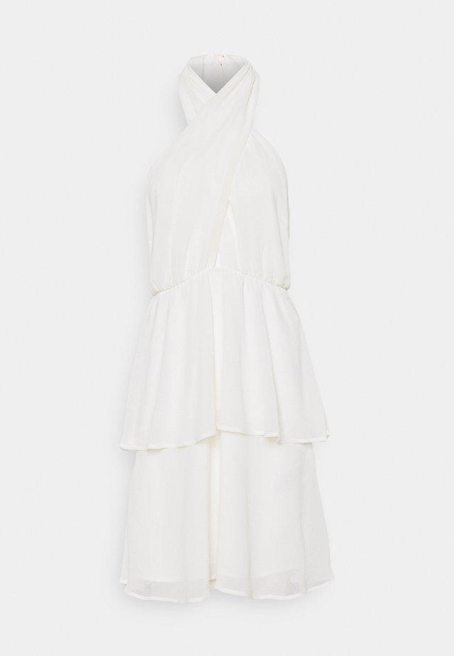 EXCLUSIVE MALVA HALTERNECK DRESS - Cocktailklänning - white