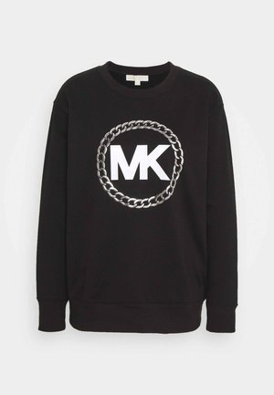 CHAIN LOGO - Sweatshirt - black/silver