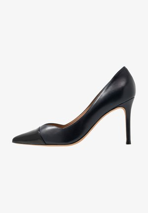 High heels - navy blue/nero