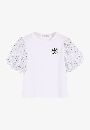 WITH TULLE - T-shirt print - white/pois