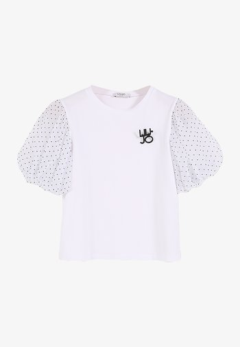WITH TULLE - Print T-shirt - white/pois