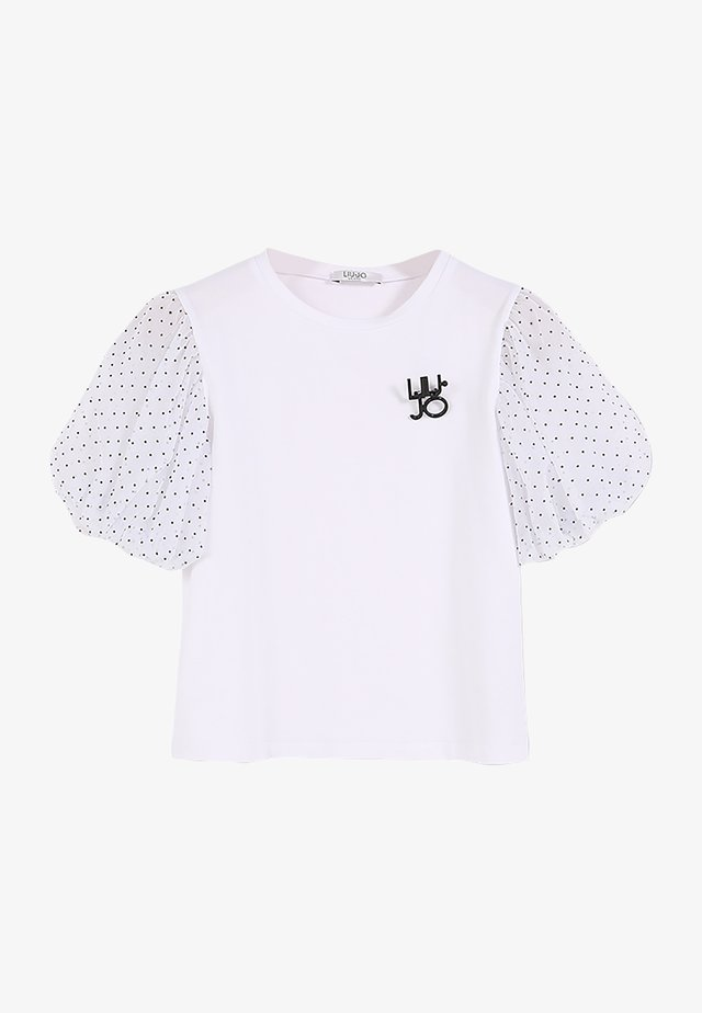 WITH TULLE - T-shirts print - white/pois