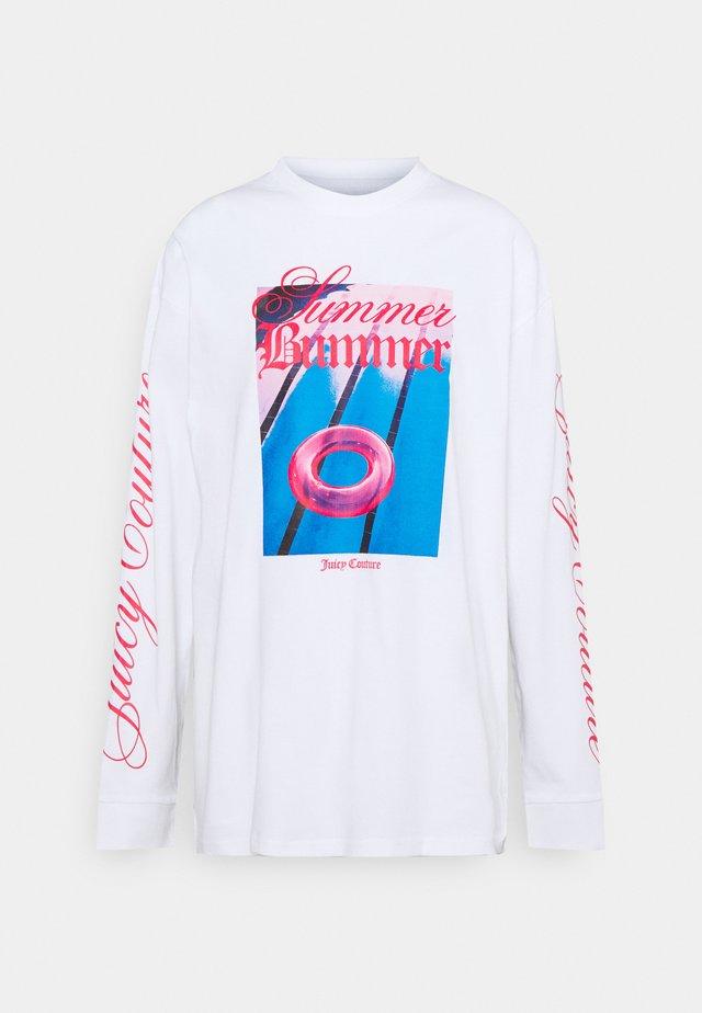 SUMMER BUMMER - T-shirt à manches longues - white