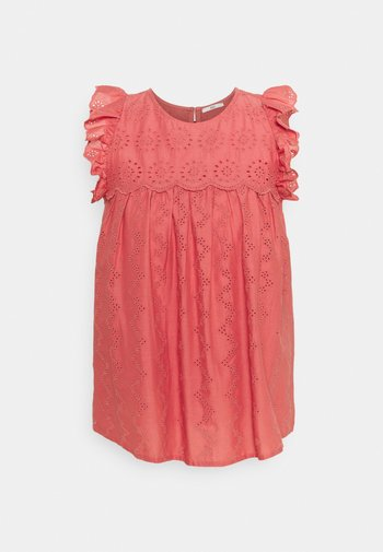BLOUSE - T-shirts med print - coral