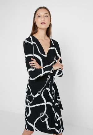 MATTE DRESS - Shift dress - black/colonial