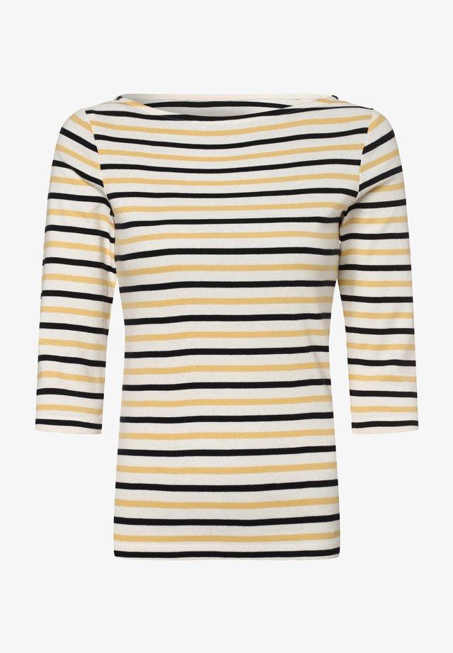 Long sleeved top - weiß gelb