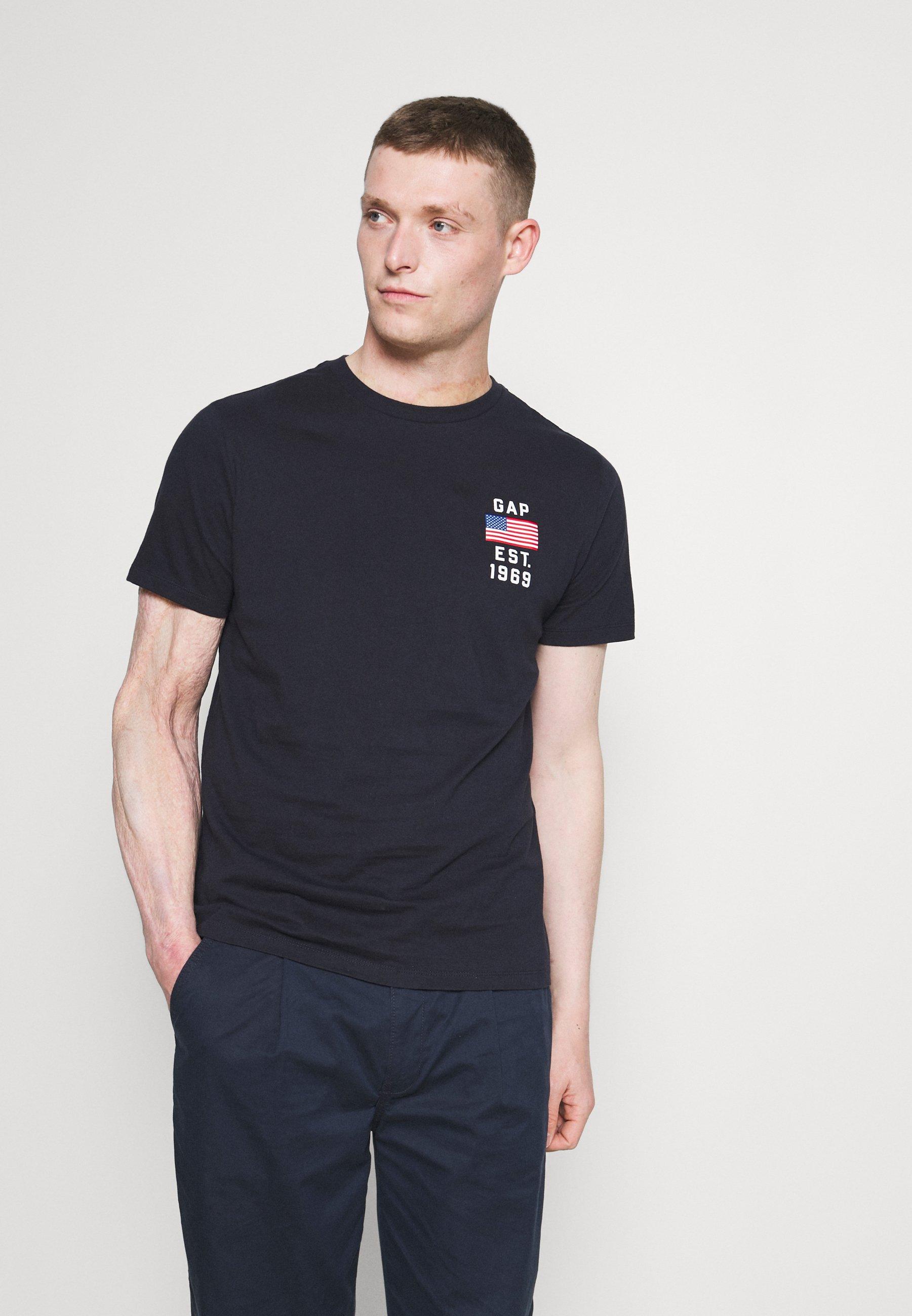 Men LOGO FLAG - Print T-shirt - new classic navy