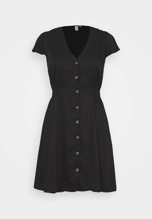 SMOCK EM DRESS - Kjole - black