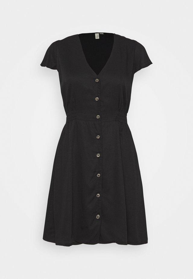 SMOCK EM DRESS - Korte jurk - black