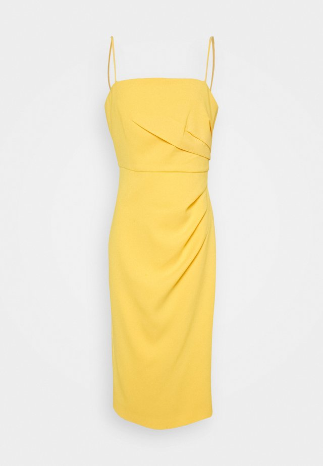 LUCY STRAPPY MIDI DRESS - Cocktailkjole - honey dew