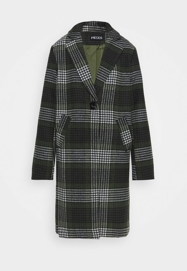 PCSIGRID COAT TALL - Kappa / rock - white/gray/sky captain/burnt olive
