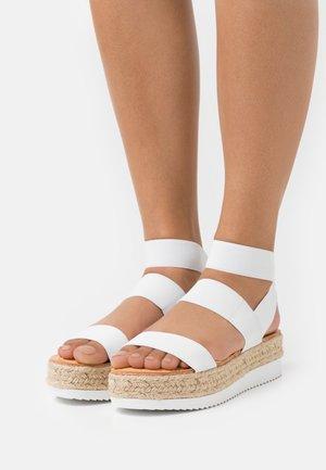 BREE - Platform sandals - white