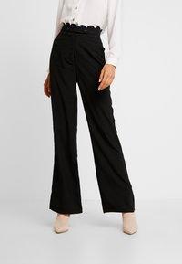 Fashion Union - TORA TROUSER - Kalhoty - black - 0