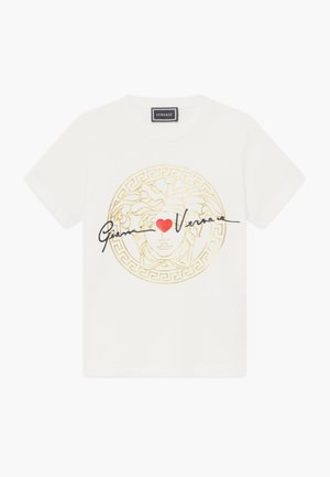 MANICA CORTA - T-shirt imprimé - bianco lana
