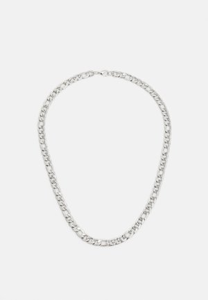 LARGE LINK CHAIN NECKLACE - Halsband - silver-coloured
