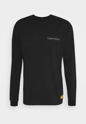 BASIC EMBROIDERY CATERPILLAR  - Bluzka z długim rękawem - black