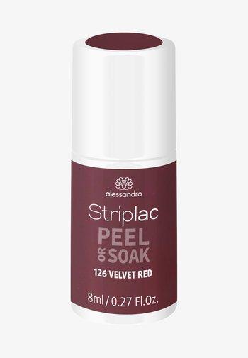 STRIPLAC PEEL OR SOAK UV LAMP - Nail polish - velvet red