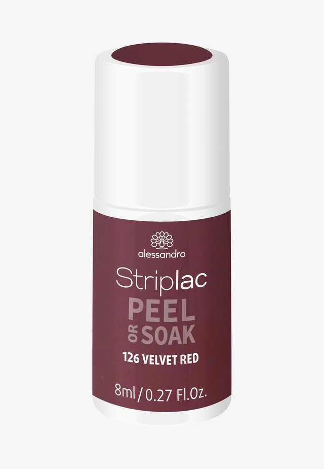 STRIPLAC PEEL OR SOAK UV LAMP - Nail polish - velvet red
