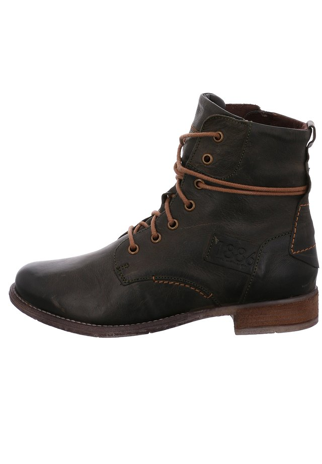 SIENNA  - Lace-up ankle boots - oliv