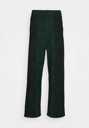 Pantalones - black/dark green
