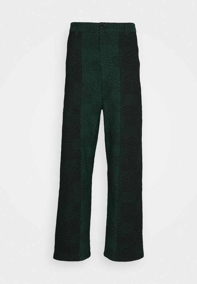Trousers - black/dark green