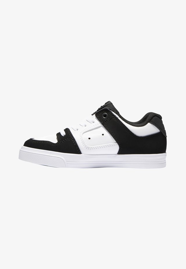 PURE ELASTIC - Skateskor - white black basic