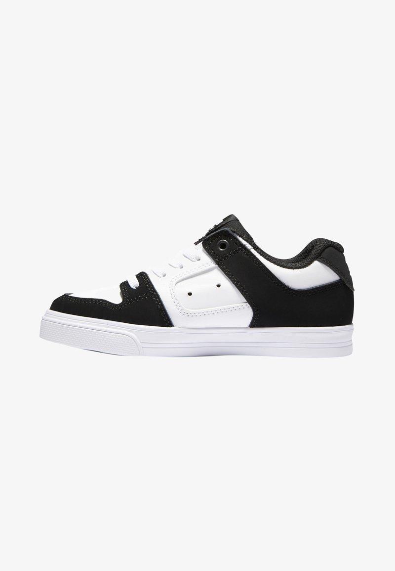 DC Shoes - PURE ELASTIC - Obuwie deskorolkowe - white black basic