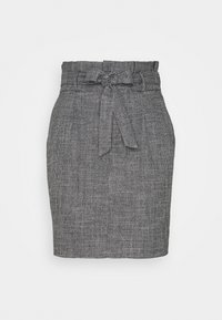 Vero Moda - VMEVA PAPERBAG SHORT SKIRT - Mini skirt - black/houndstooth grey/white - 0