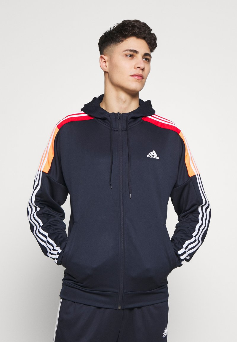 adidas Performance - 3STRIPES AEROREADY ATHLETICS SPORT TRACKSUIT - Verryttelypuku - dark blue
