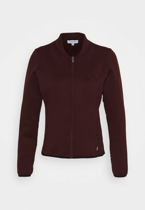 MEREZ JACKET - Giacca in pile - blackberry