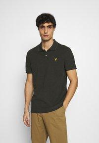 Lyle & Scott - OXFORD  - Polo shirt - trek green/ jet black - 0