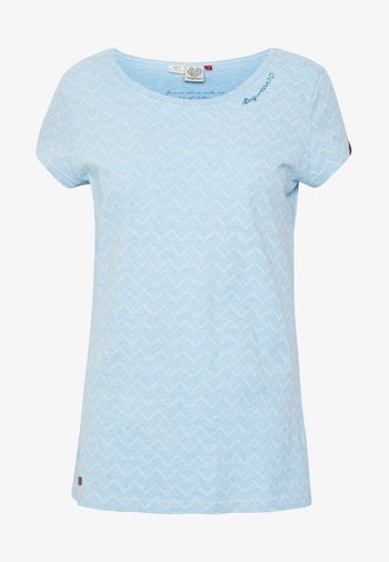 ZIG ZAG - Print T-shirt - blue