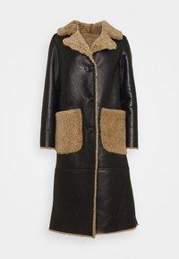 STUDIO ID - KATHERINE CONTRAST POCKET COAT  - Leather jacket - black/cream - 6