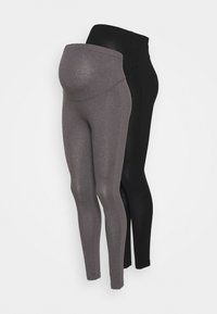 Anna Field MAMA - 2 PACK - Leggings - grey/black - 0