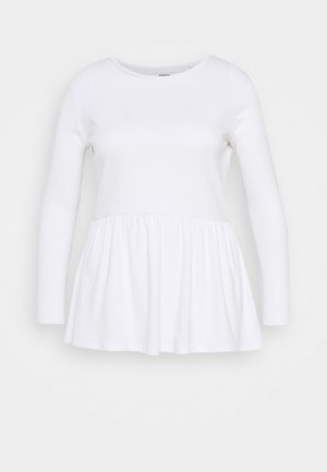 PEPLUM LONG SLEEVE - Long sleeved top - white