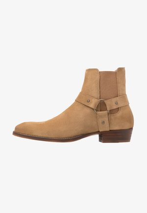 BIABEACK WESTERN - Cowboy/biker ankle boot - creme