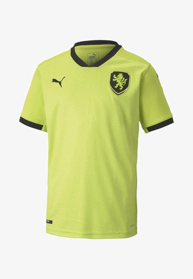 CZECH REPUBLIC  AWAY REPLICA  - National team wear - limepunch-black