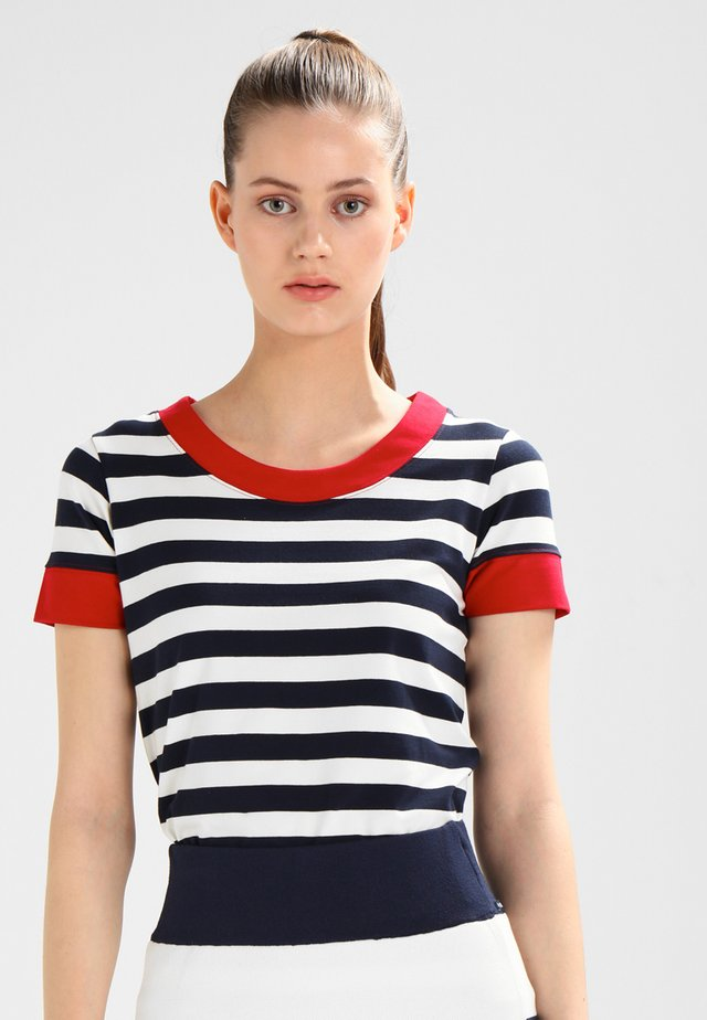 TONNERE - Print T-shirt - navy/pearl