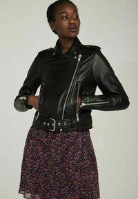 NAF NAF - CANDICE  - Leather jacket - black - 0