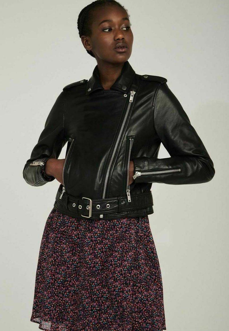 NAF NAF - CANDICE  - Leather jacket - black