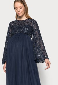 Maya Deluxe Maternity - FLORAL EMBELLISHED BELL SLEEVE MAXI - Occasion wear - navy - 3