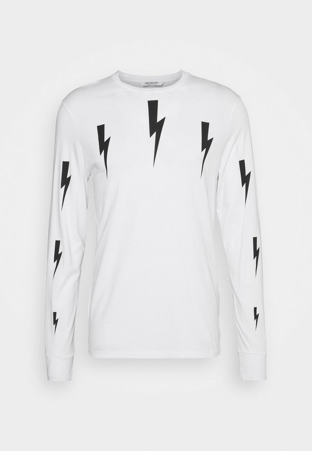 HALO BOLTS PRINT - Long sleeved top - white/black