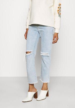 DISTRESSED - Jeans straight leg - light stonewash