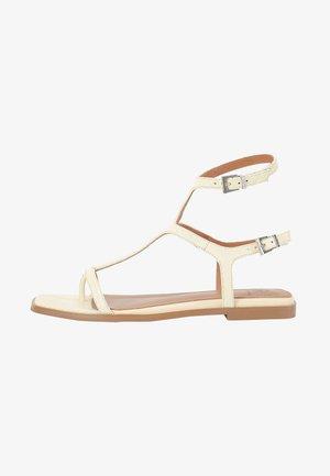Sandalen met enkelbandjes - sorbet