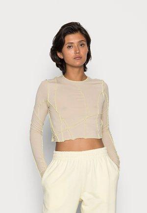 SIERRA CROP LONG SLEEVE - Long sleeved top - beige