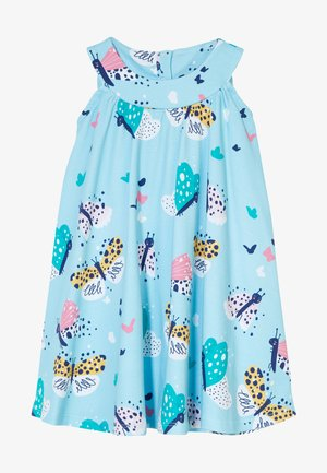 FUNNY BUTTERFLIES FLARED DRESS - Korte jurk - turquoise